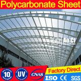 Material de telhado de folha oco de policarbonato