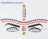 Etiquetas engomadas de piedra de acrílico del tatuaje de la frente de las cejas de la joyería de la cara (S002)