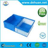Grado Alimenticio plegable fría de plástico contenedores de almacenamiento / Caja con gran tamaño y Multi-Shaped