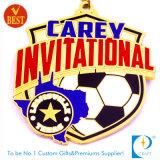 Medaglia di invito di gioco del calcio/calcio di Carey in oro/argento