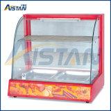 Dh827 Showcase de réchauffement de verre courbé de Fast Food Equipment