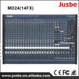 Het 24-kanaal van MD24/14fx Professionele AudioMixer