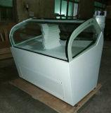 Helados italianos pantalla helado Gelato congelador frigorífico (QV-BB-12)
