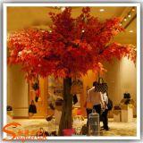 Jardim decoração vermelha Artificial Maple Tree para fora ou dentro de