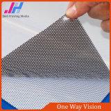 Visione adesiva perforata di one-way del vinile del PVC della colla nera