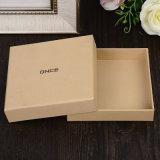Kundenspezifischer reizender Papiergeschenk-Kasten für verpackendes silbernes heißes stempelndes UVfirmenzeichen