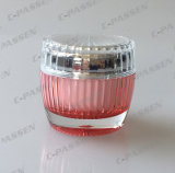 Frasco de creme acrílico cor-de-rosa de cristal de empacotamento cosmético da chegada nova (PPC-ACJ-066)