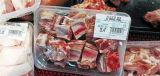 Máquina de empacotamento congelada Bandeja-Estilo do alimento do fluxo do descanso da carne de HS-350c