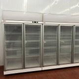 Enchufe del refrigerador de la puerta doble en el refrigerador de la exhibición de la tienda de comestibles del compresor