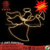 2D LED Engels-Motiv des im Freien warmen Weiß-mit Trompete-Weihnachtsdekorativem hellem Cer RoHS