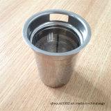 De Milieuvriendelijke Theepot van uitstekende kwaliteit van het Glas met de Thee Infuser van het Netwerk van de Draad van het Roestvrij staal