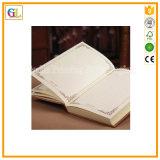 金カラーの高品質のハードカバーのノートの本の印刷