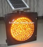Feux de signalisation de clignotement solaires jaunes de voyant d'alarme du feu de signalisation de Polisilicon de panneau solaire 95PCS DEL
