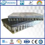 Panneau en aluminium en pierre de marbre de nid d'abeilles pour le revêtement de mur