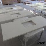 Pedra de quartzo artificial branca pura vaidade de cozinha bancadas de trabalho