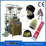 冬の暖かい帽子の編む機械、機械を作る帽子