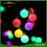 كرة أرضيّة 50 [لد] كرة يشعل خيط شمسيّة يزوّد [كريستمس ليغت] إنارة زخرفيّة لأنّ بيتيّة حديقة فناء [لون برتي] زخارف