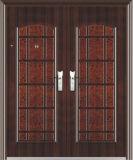 Sin hacer ruido impermeable antirrobo puerta de acero (puerta de hierro)