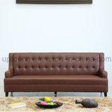 Sofá de sala de estar moderno com estofamento de PU marrom (SP-KS358)