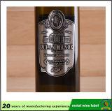 На заводе Custom металлические алюминиевые печати 3D-вино эмблемы наклейки