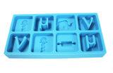 Создатель льда силикона формы письма алфавита ранга продовольственной безопасности ломкий, поднос кубика льда силикона