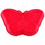Лоток торта выпечки Bakeware силикона УПРАВЛЕНИЕ ПО САНИТАРНОМУ НАДЗОРУ ЗА КАЧЕСТВОМ ПИЩЕВЫХ ПРОДУКТОВ И МЕДИКАМЕНТОВ красной бабочки форменный теплостойкmNs