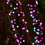 As novas cores do duplo produto Decoração de Natal Firecracker LED luz de String