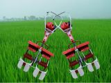 Mini sarcloir rotatoire de rizière d'essence de 2 rangées