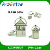 Keychain Love House USB Flash Drive Métal USB Flash Disk