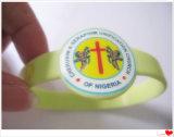 Logo CMYK Printing Silicone Assista Pulseira para promocional (YB-SW-39)