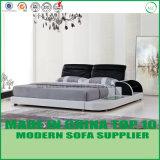 현대 간단한 침실 가구 가죽 2인용 침대