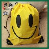学校学生のための210dポリエステルドローストリングのバックパック袋
