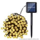 Angeschaltenes 100 LED-im Freienweihnachtszeichenkette-Solarlicht