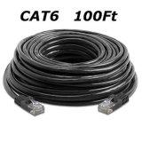 CAT6 30 M/100 FT черное RJ45