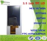 """3.5 """" visualizzazione dell'affissione a cristalli liquidi del ODM di 320X480 MCU 16/18bit 45pin con lo schermo di tocco"""