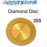 355 TI를 가진 치과 다이아몬드 디스크는 도금했다