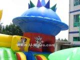 Van het de prijsBeeldverhaal van de fabriek van de de stads opblaasbare speelplaats van de Pret Opblaasbare opblaasbare combo met 3 dia's