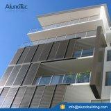 Portes coulissantes extérieures en persiennes coulissantes en aluminium