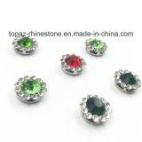 2017 o ajuste da garra da flor do cristal da qualidade nova e superior 9mm Sew na faixa de Strass (o cristal redondo emerald de TP-9mm)