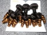 Cor brasileira de Brown Ombre da onda de Movado do cabelo do Virgin 3 pacotes