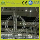 Ферменная конструкция круга представления этапа алюминиевая