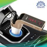 Véhicule le G7 émetteur FM mains libres de nécessaire de véhicule de Bluetooth chargeant Ligne-dans le disque aux. de la carte U de FT de support de chargeur de véhicule d'USB