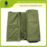 Tela di canapa resistente militare Tarps, forte tela incatramata di tela di canapa del cotone