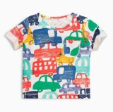 T-shirt 100% d'été de garçons de vêtements d'enfants de coton