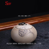 Thy опарник чая домашней восхитительной картины листьев лотоса керамический