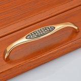 Ручка двери шкафа ящика черноты золота H33 k заключенная контракт шкафом