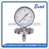 Manometro del Misurare-Tester di qualità ss di pressione di Diaphram Misurare-Alto