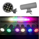 colores al aire libre de la luz 6 de la pared de 12W*2 LED en la opción
