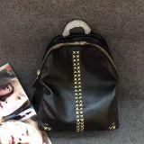 La plupart de sac en cuir réel de sac à dos de créateur populaire a clouté le sac à dos fabriqué en Chine Emg5137