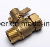 Válvula de bola de latón con llave para contador del agua